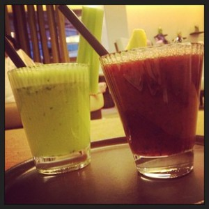 Round 3: detox drinks in the 6 Senses spa of the Alpina