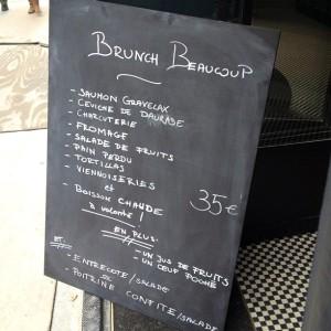 Brunch formula at Beaucoup