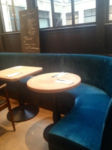 Funky blue sofas