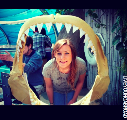 LYA in the Shark Jaw