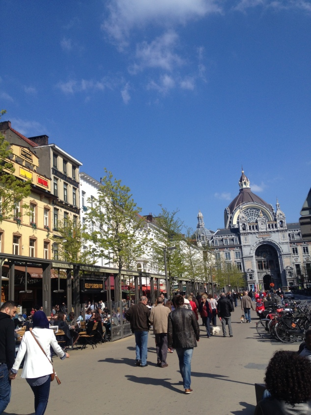 Arrived in Antwerp with the Sun