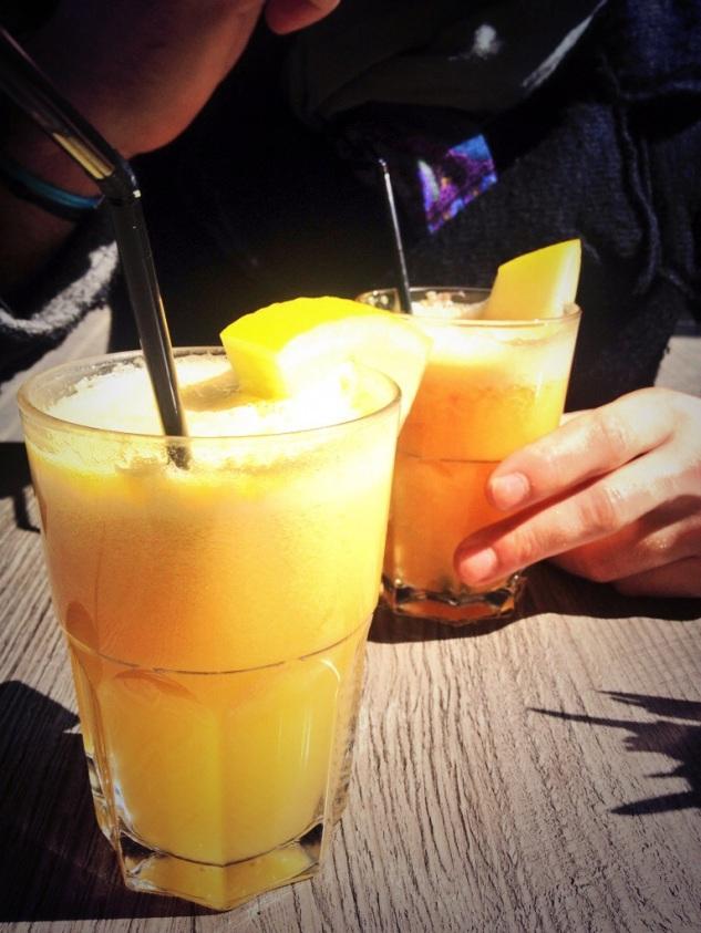 Pineapple, grapefruit and lemon fresh juice
