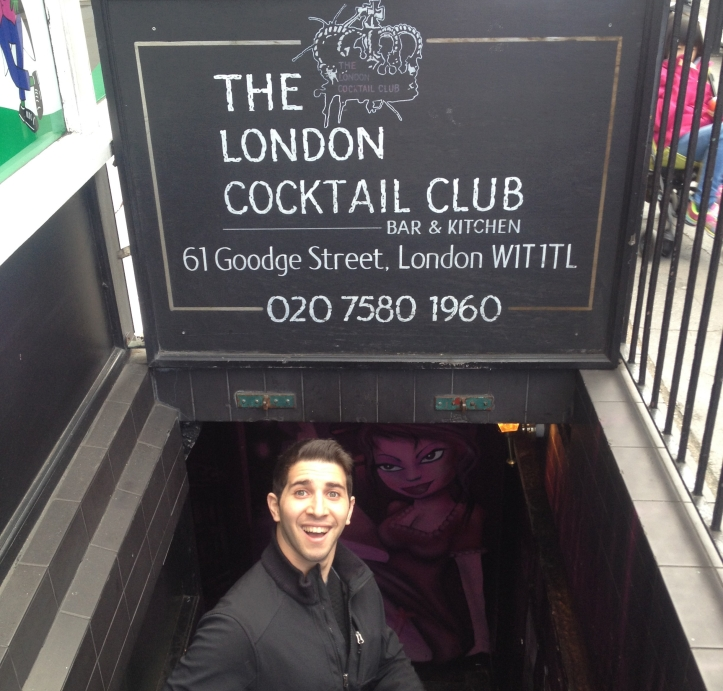 London Cocktail Club  Soho entrance